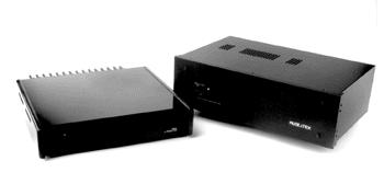 Melior Stereo Amp (left) and Ci60/360 (right)